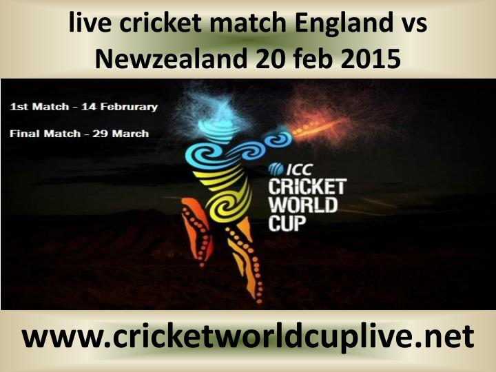 live cricket match England