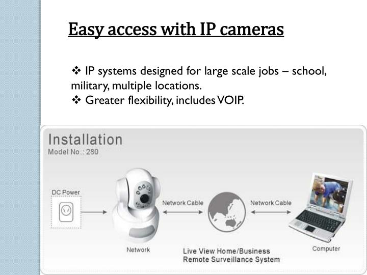 Easy access with IP cameras