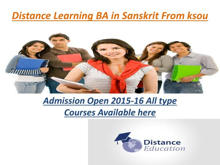 Distance learning ba in sanskrit from ksou