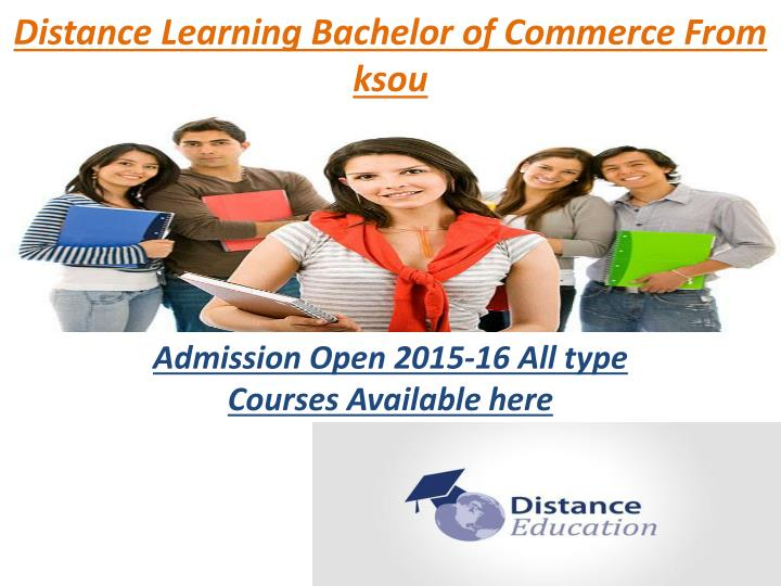 Distance learning bachelor of commerce from ksou
