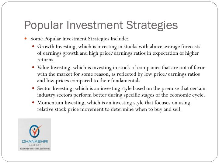 Popular Investment Strategies