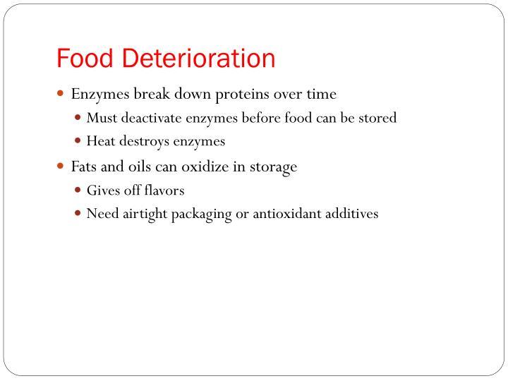 Food Deterioration
