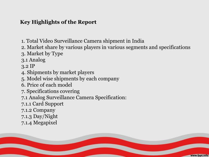 Key Highlights of the Report