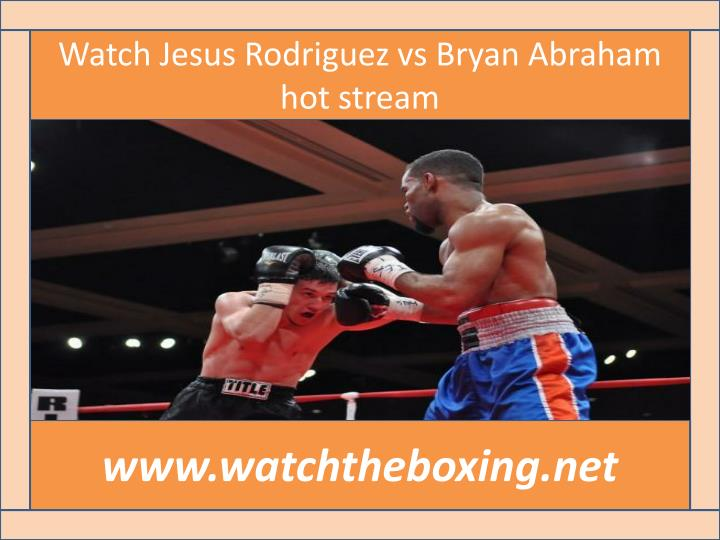 Watch Jesus Rodriguez