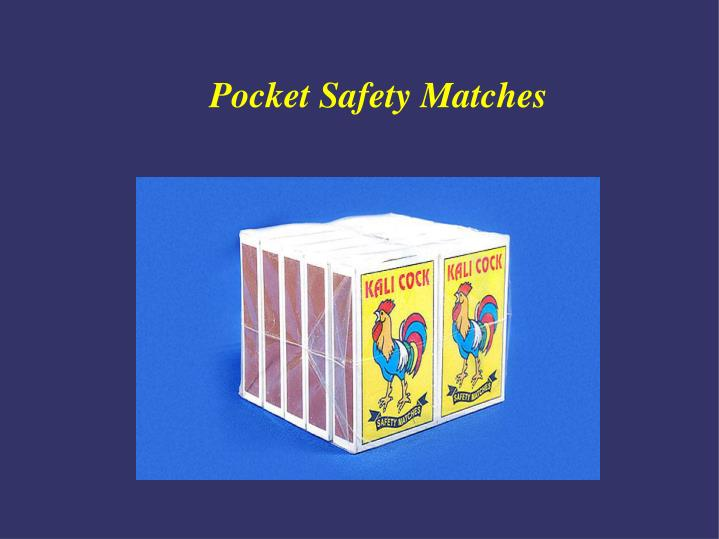Pocket Safety Matches