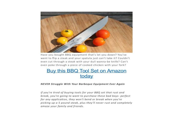 New bbq set arrives to amazon