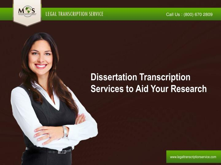 Dissertation Transcription Services