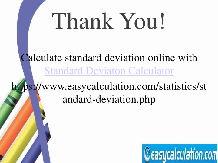 Calculate standard deviation online with
