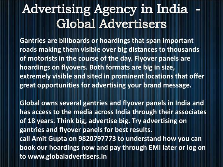 Advertising Agency in India  -