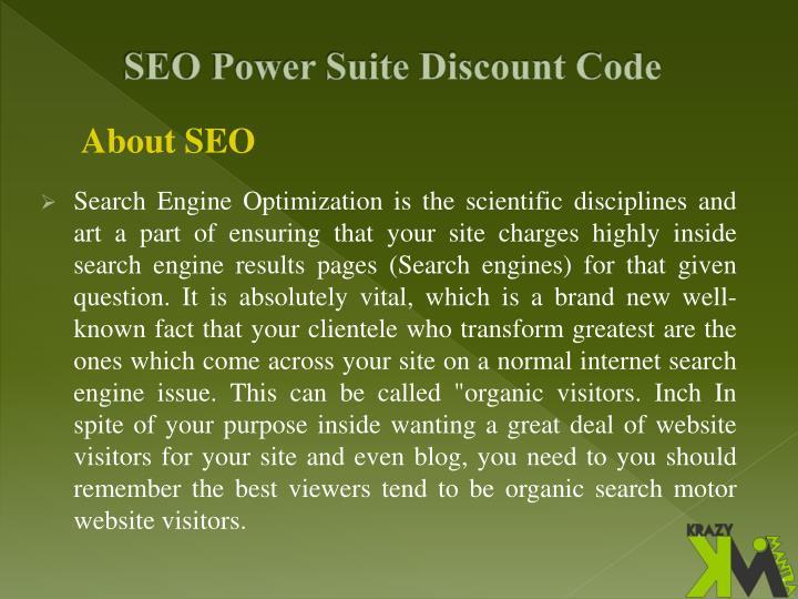 SEO Power Suite Discount