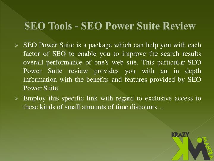 SEO Tools - SEO Power Suite