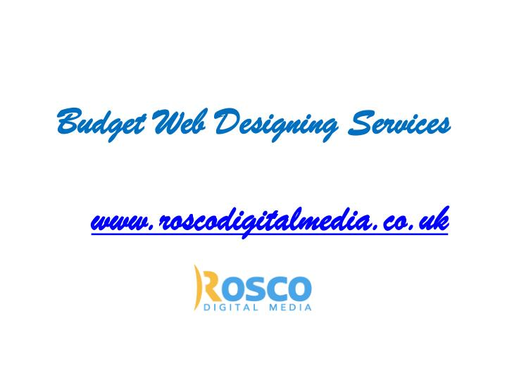 Budget web designing services