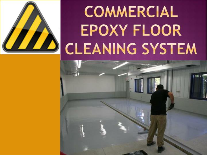 commercial epoxy floor cleaning system