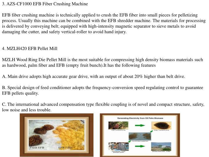 3. AZS-CF1000 EFB Fiber Crushing Machine