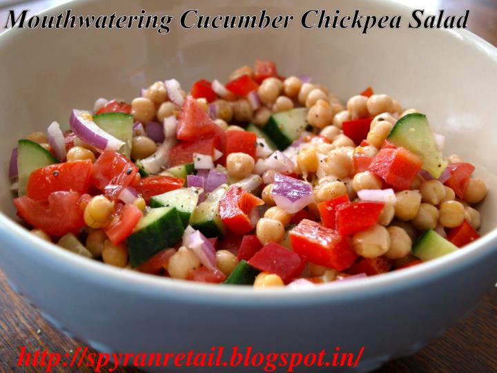 Mouthwatering Cucumber Chickpea Salad