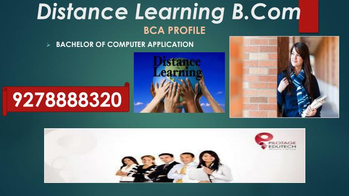 Distance learning b com