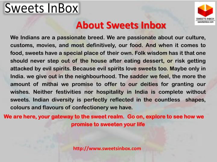 About Sweets Inbox
