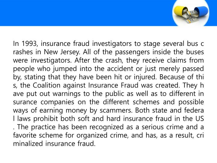 In 1993, insurance fraud investigators to stage several bus crashes in New Jersey. All of the passen...