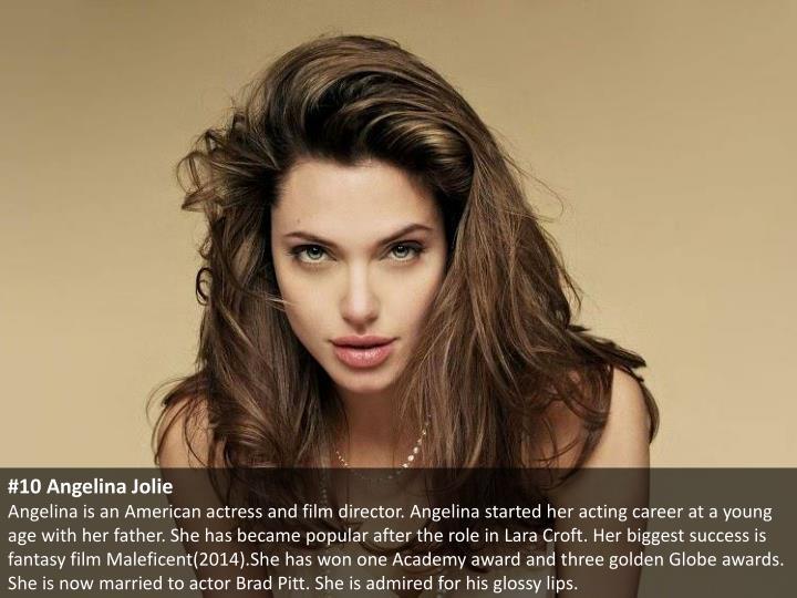 #10 Angelina Jolie