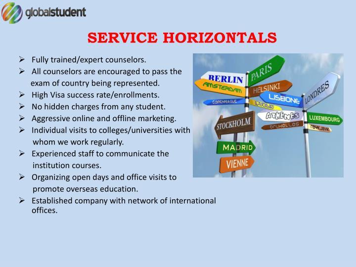 SERVICE HORIZONTALS