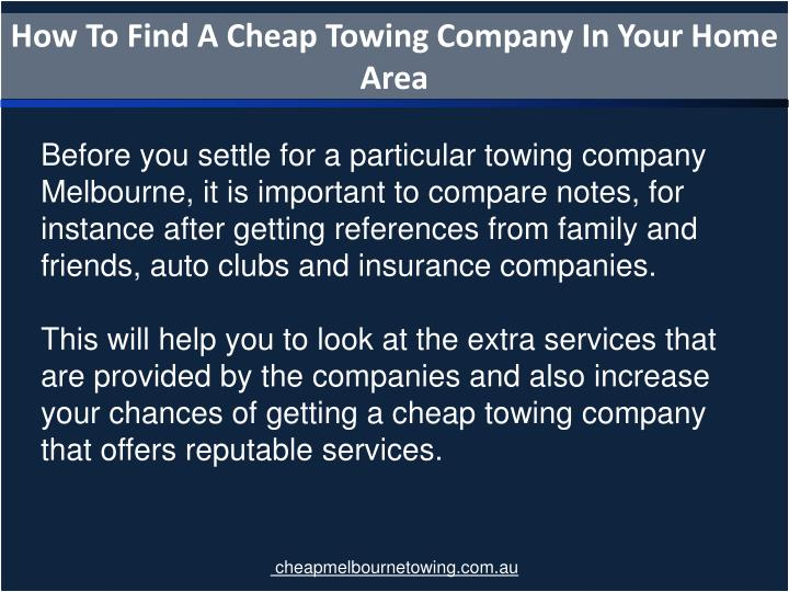 How To Find A Cheap Towing Company In Your Home Area