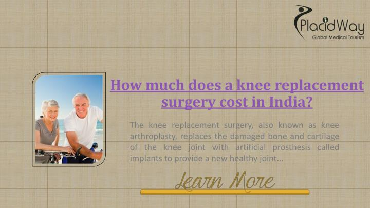 How much does a knee replacement surgery cost in India