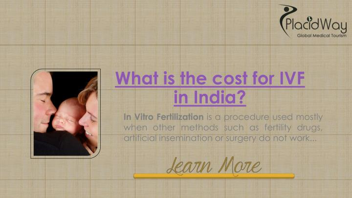 What is the cost for IVF in India