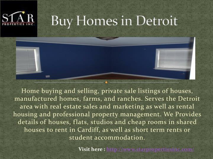 Buy Homes in Detroit