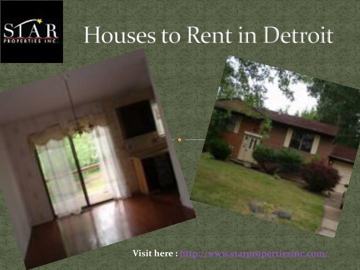 Houses to Rent in Detroit