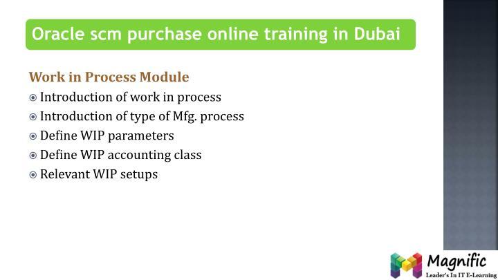 Work in Process Module
