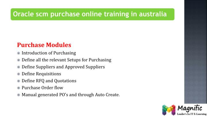 Purchase Modules