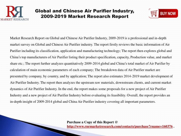 Global and chinese air purifier industry 2009 2019 market research report