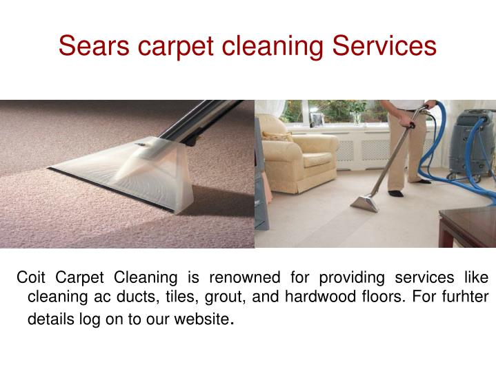 Sears carpet cleaning services