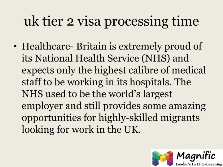 uk tier 2 visa processing time