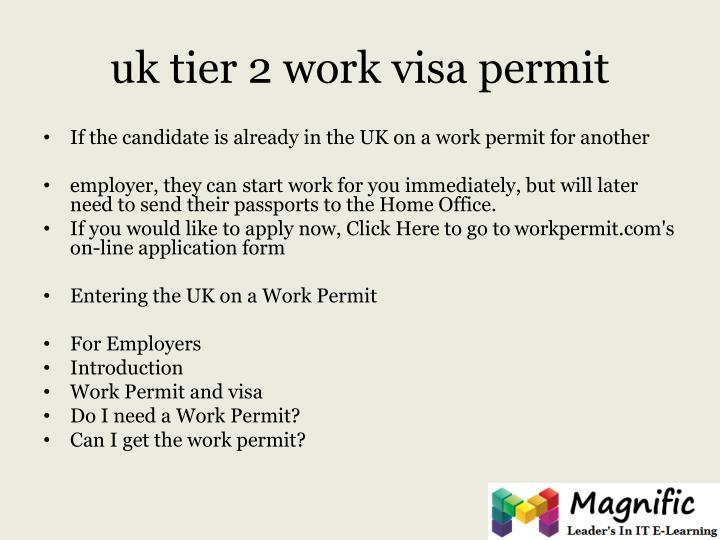 uk tier 2 work visa permit