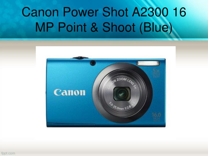 Canon Power Shot A2300 16 MP Point & Shoot (Blue)