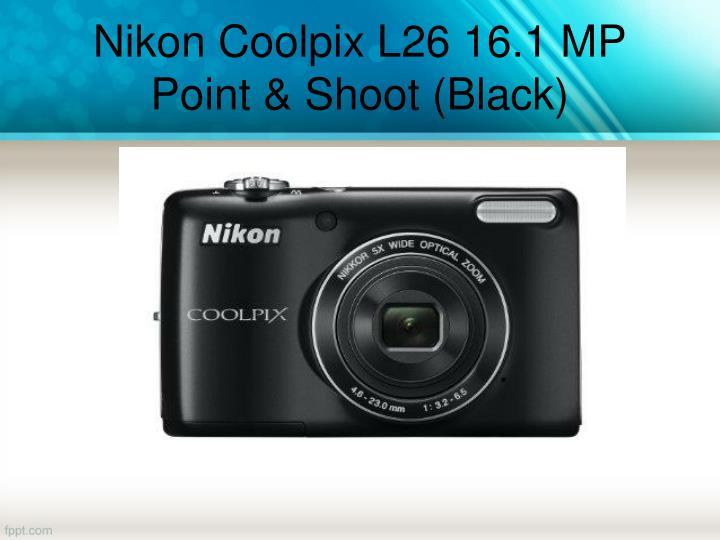 Nikon Coolpix L26 16.1 MP Point & Shoot (Black)