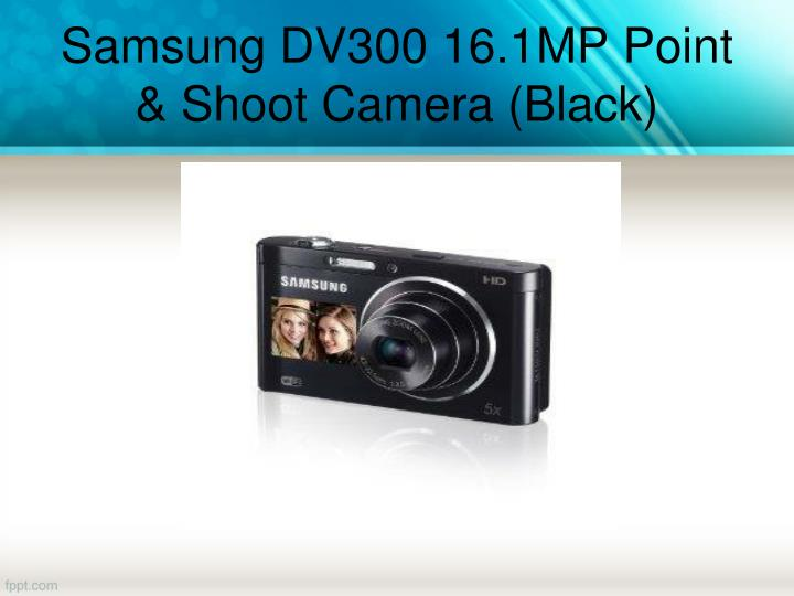 Samsung DV300 16.1MP Point & Shoot Camera (Black)