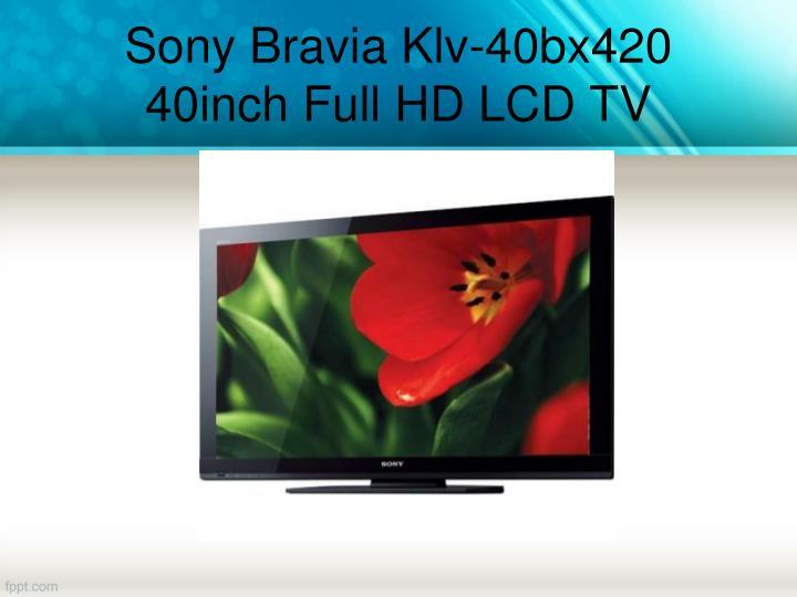 Sony Bravia Klv-40bx420 40inch Full HD LCD TV