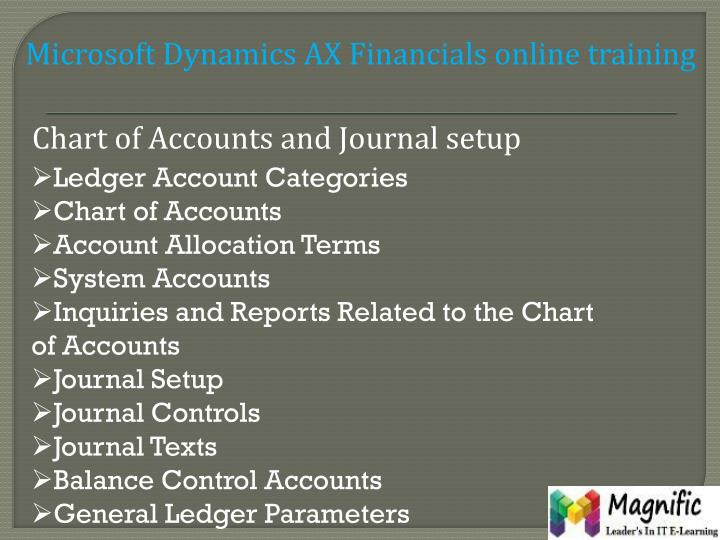 Microsoft Dynamics AX Financials online training