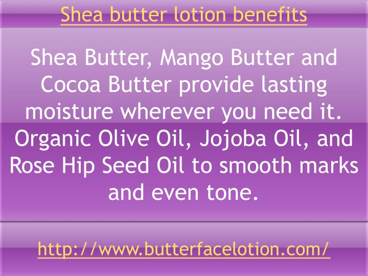 Shea butter lotion benefits