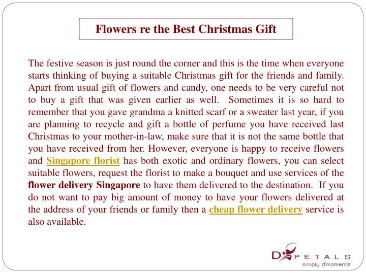 Flowers re the best christmas gift