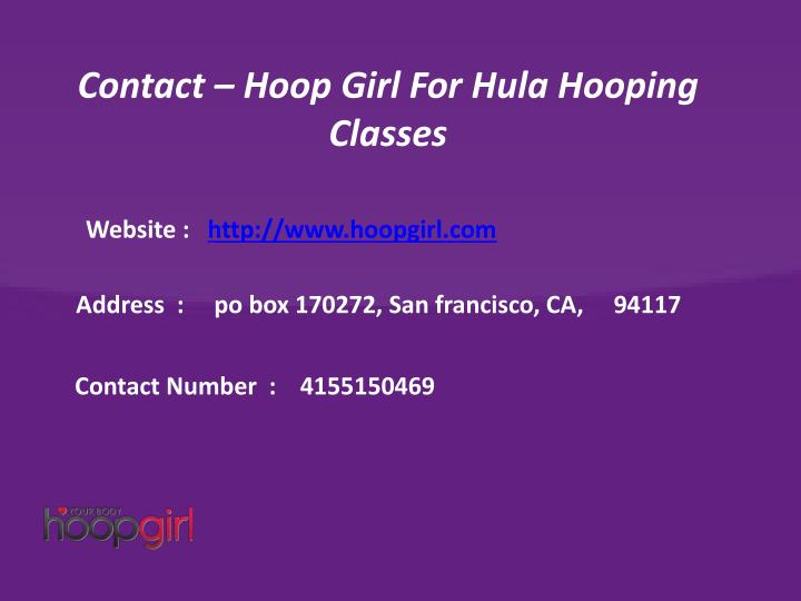 Contact – Hoop Girl For Hula Hooping Classes