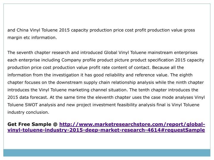 Ppt Global Vinyl Toluene Industry 2015 Market Analysis