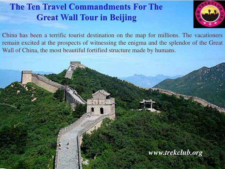 The Ten Travel Commandments For The Great Wall Tour in Beijing