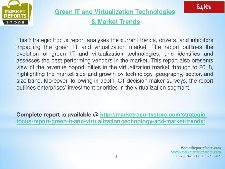 Green IT and Virtualization