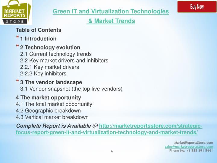 Green IT and Virtualization Technologies