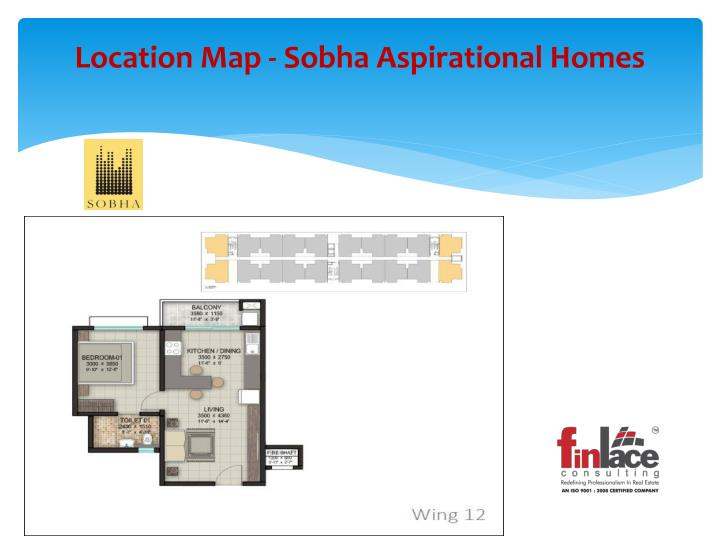 Location map sobha aspirational homes