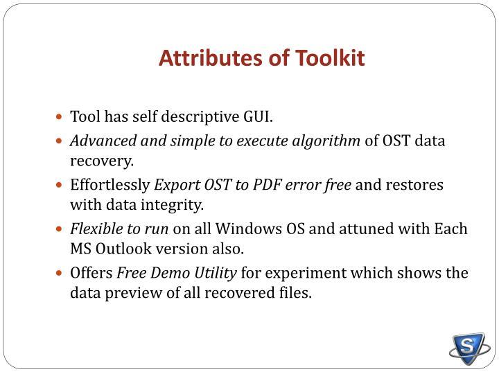 Attributes of Toolkit