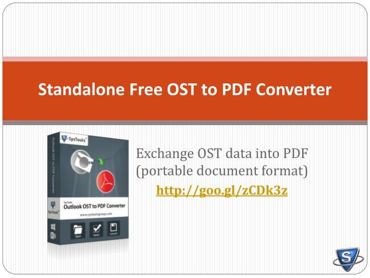 Standalone free ost to pdf converter
